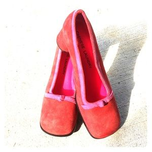 Chinese Laundry Red w/Pink Shoes Perfect Costume